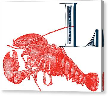L Lobster Canvas Print by Thomas Paul