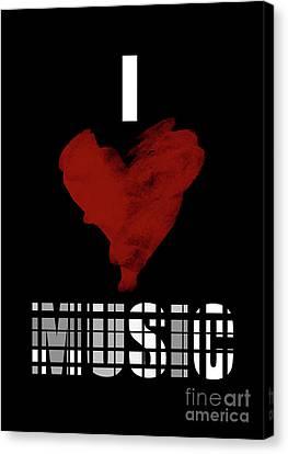 Fairy Canvas Print - l Love Music 6 by Prar Kulasekara