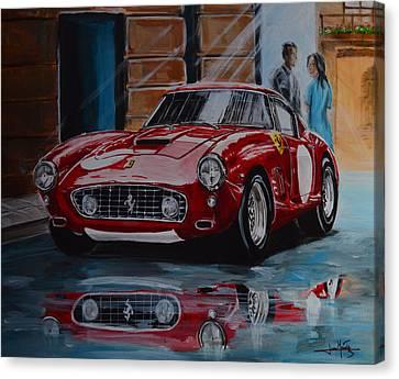 La 250gt Swb  Canvas Print by Juan Mendez