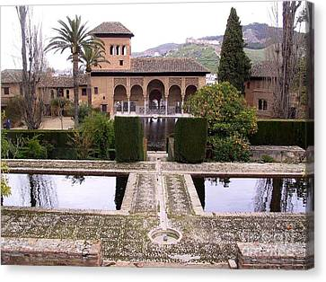 La Alhambra Garden Canvas Print by Thomas Marchessault