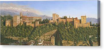 Alhambra Canvas Print - La Alhambra Granada Spain by Richard Harpum