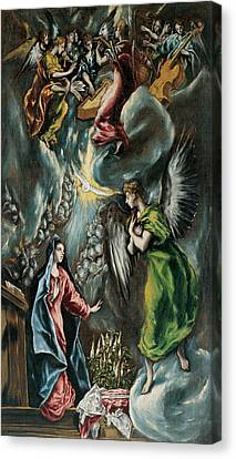 La Anunciacion Canvas Print by El Greco