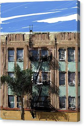 La Apartment Building Canvas Print by Russell Pierce