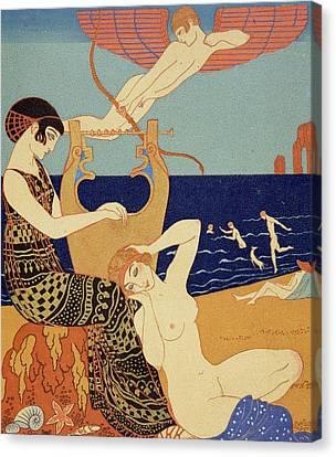 La Bague Symbolique Canvas Print by Georges Barbier