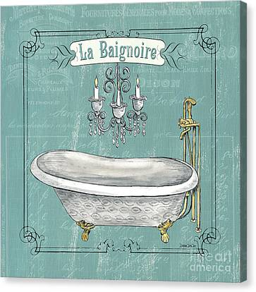 Wash Tubs Canvas Print - La Baignoire by Debbie DeWitt