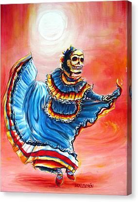 La Bailarina Del Sol Canvas Print by Heather Calderon