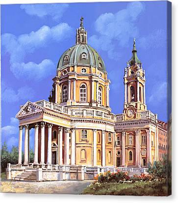 la basilica di Superga Canvas Print by Guido Borelli