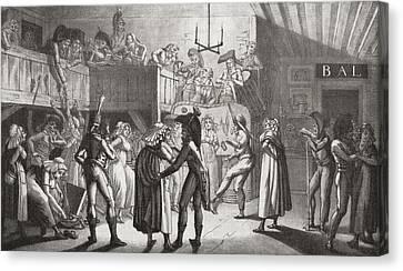 La Bastringue, Or Gift Giving Dance Canvas Print by Vintage Design Pics
