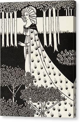 Arthurian Legend Canvas Print - La Beale Isolde by Aubrey Beardsley