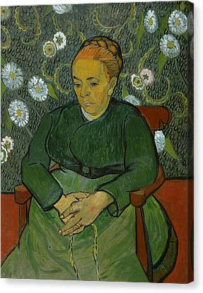 La Berceuse Portrait Of Madame Roulin Canvas Print by Vincent van Gogh