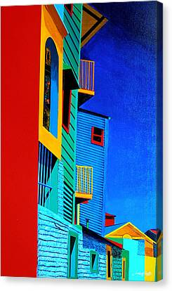 La Boca Street Scene Twelve Canvas Print