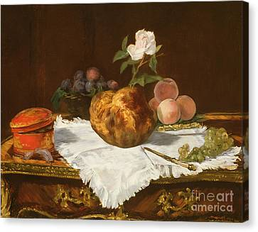 La Brioche Canvas Print by Edouard Manet