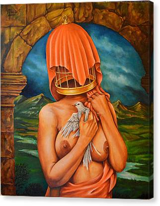 La Cage Doree Canvas Print