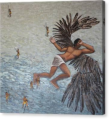 La Caida De Icaro Canvas Print