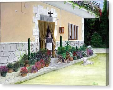La Casa De Nonna Loreta Canvas Print