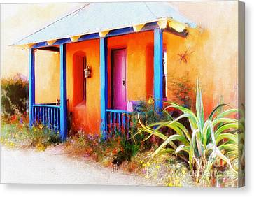 Rocking Chairs Canvas Print - La Casa Del Gato by Lois Bryan