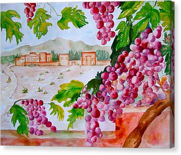 Canvas Print featuring the painting La Casa Del Vino by Sharon Mick