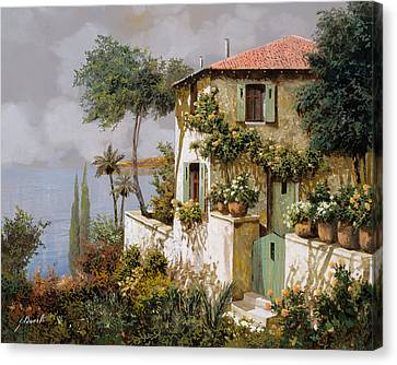 La Casa Giallo-verde Canvas Print by Guido Borelli