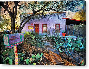 Canvas Print featuring the photograph La Casa Lila by Barbara Manis