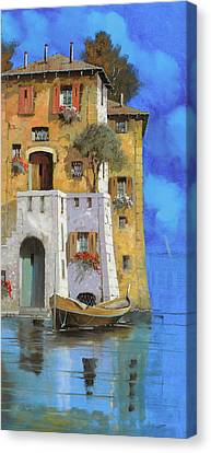 La Casa Sull'acqua Canvas Print by Guido Borelli