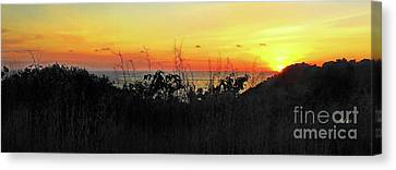 la Casita Playa Hermosa Puntarenas Costa Rica - Sunset A Panorama Canvas Print by Felipe Adan Lerma