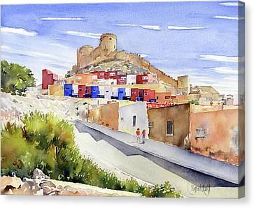 La Chanca Almeria Canvas Print