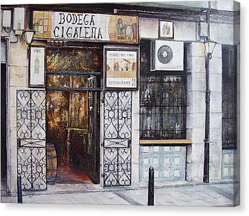 La Cigalena Old Restaurant Canvas Print by Tomas Castano