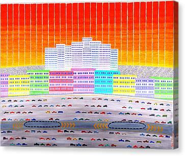 L.a. Cityscape Canvas Print