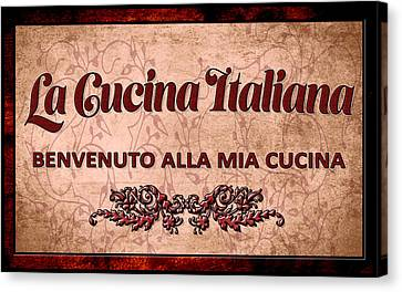 Italian Kitchen Canvas Print - La Cucina Italiana by Frederick Kenney