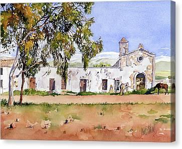 Cortijo Canvas Print - La Ermita Del Fraile by Margaret Merry