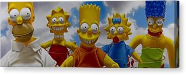 La Famiglia Simpson Canvas Print by Tony Chimento