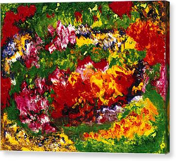 La Fete Au Jardin Canvas Print by Dominique Boutaud