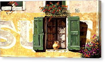 la finestra di Sue Canvas Print by Guido Borelli