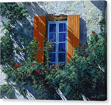 La Finestra E Le Ombre Canvas Print by Guido Borelli