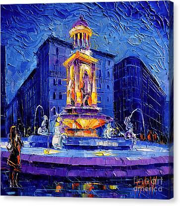 La Fontaine Des Jacobins Canvas Print by Mona Edulesco