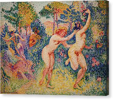 La Fuite Des Nymphes Canvas Print