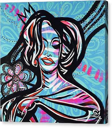 La Gagita With Flower Canvas Print
