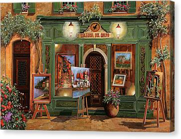 Canvas Print - La Galleria Del Corvo by Guido Borelli
