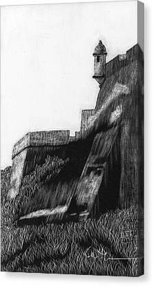 La Garita De El Morro Canvas Print by Diane Cutter