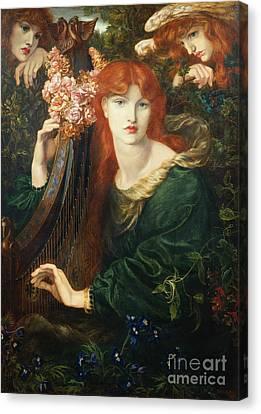 La Ghirlandata Canvas Print by Dante Charles Gabriel Rossetti