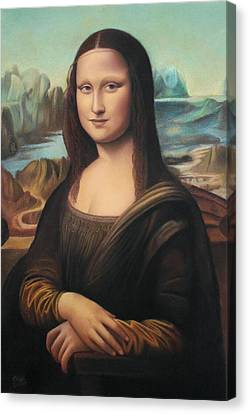 La Gioconda - Pastel  Canvas Print by Vishvesh Tadsare