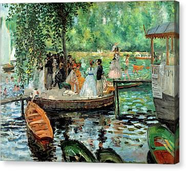 La Grenouillere By Auguste Renoir 1869 Canvas Print by Movie Poster Prints