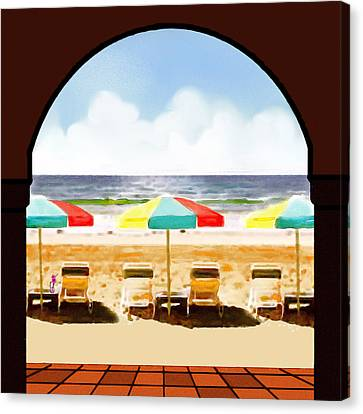 La Jolla Beach Club 1 Canvas Print