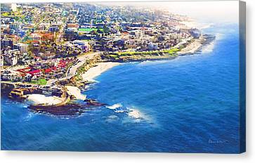 La Jolla Art Canvas Print - La Jolla Childrens Pool by Russ Harris