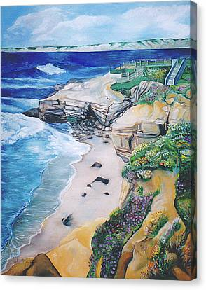 La Jolla Coast Canvas Print by John Keaton