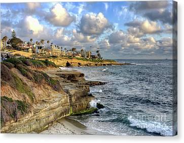 La Jolla Coastline Canvas Print by Eddie Yerkish