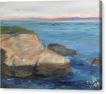 Canvas Print featuring the painting La Jolla Cove 001 by Jeremy McKay