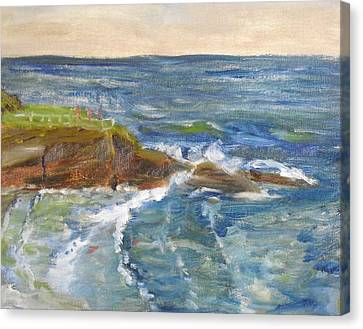 Canvas Print featuring the painting La Jolla Cove 004 by Jeremy McKay
