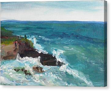 Canvas Print featuring the painting La Jolla Cove 006 by Jeremy McKay