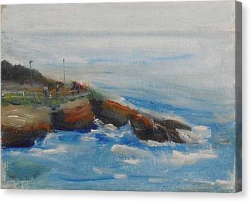 Canvas Print featuring the painting La Jolla Cove 007 by Jeremy McKay